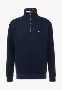 Tommy Jeans - SOLID ZIP MOCK NECK - Sweatshirt - blue - 4