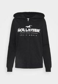 Hollister Co. - SECONDARY TECH CORE - Mikina na zip - black - 4