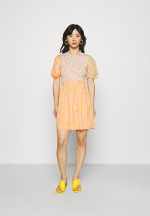 VINTAGE MINI SWEDISH DRESS - Day dress - orange