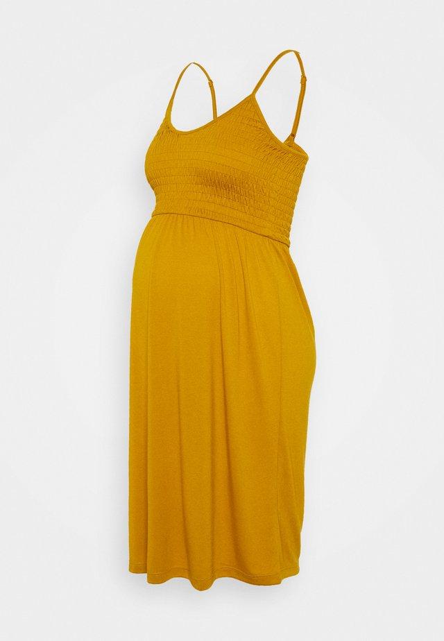 MLSILLE SMOCK DRESS - Jerseyjurk - buckthorn brown