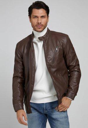 Faux leather jacket - braun