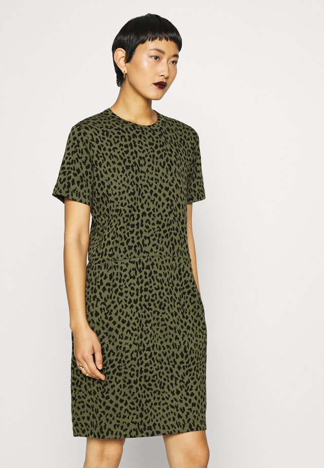 DIELLA - Shift dress - army/black