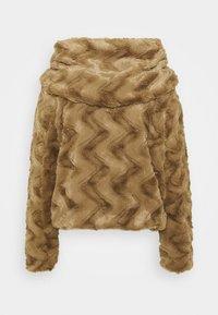 Vero Moda Petite - VMCURL HOODY FAUXFUR JACKET - Light jacket - sepia tint - 1