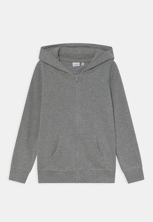 NKFNASWEAT HOOD - Zip-up sweatshirt - grey melange