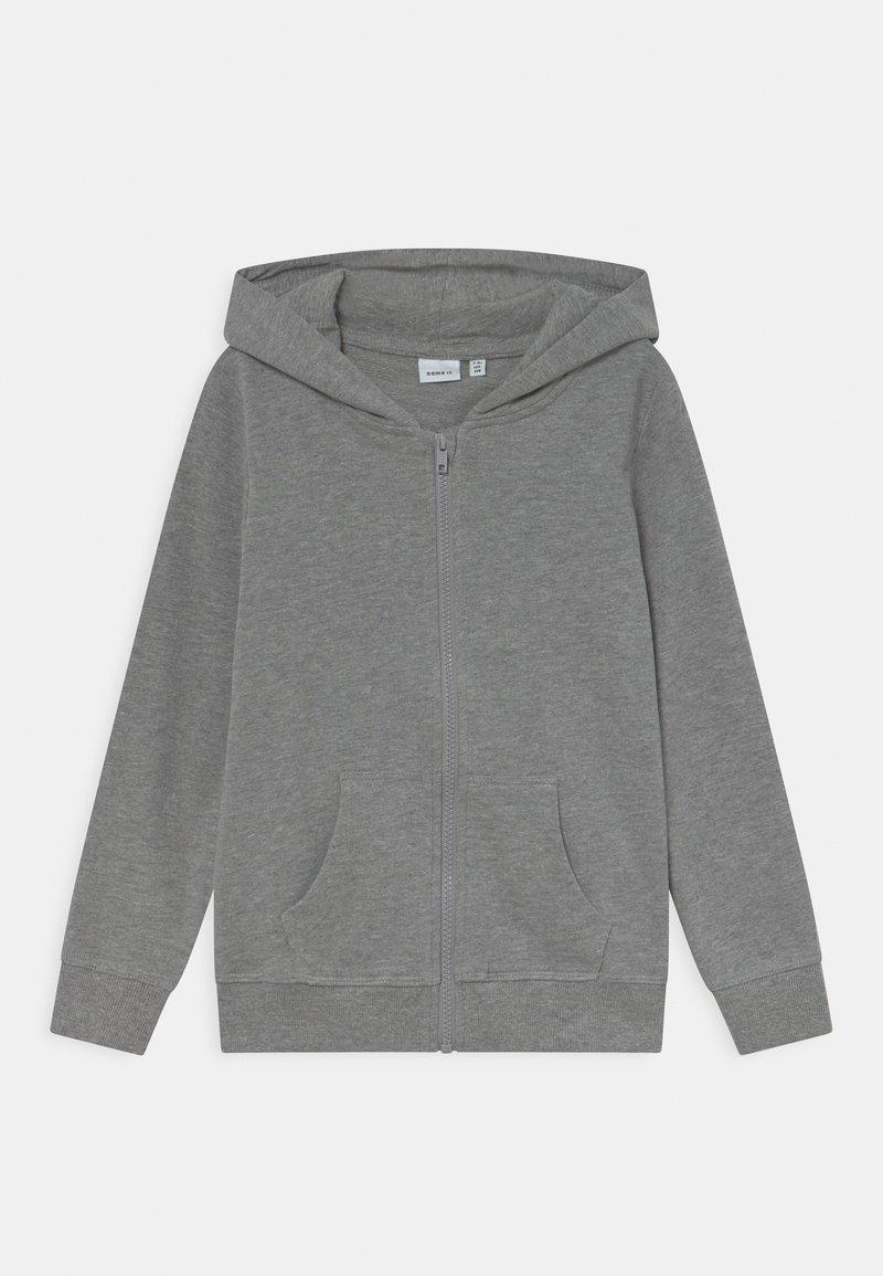 Name it - NKFNASWEAT HOOD - Zip-up sweatshirt - grey melange