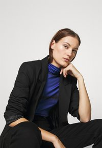 Who What Wear - RUCHED TURTLENECK - Long sleeved top - blue - 3