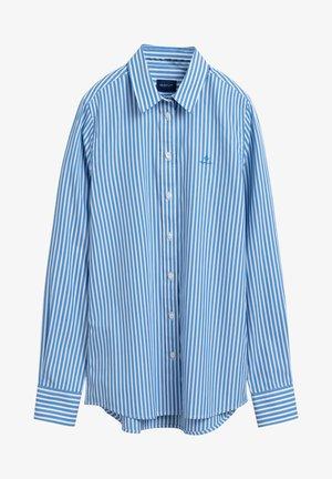 Button-down blouse - pacific blue