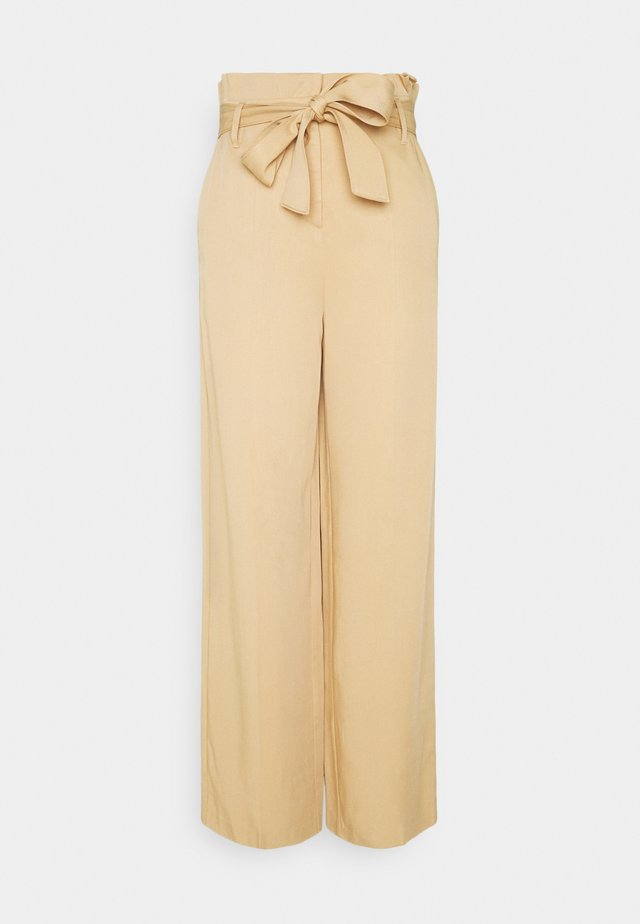 PAPERBAG PANTS - Trousers - camel