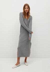 Mango - ROLLY - Strickkleid - grey - 0