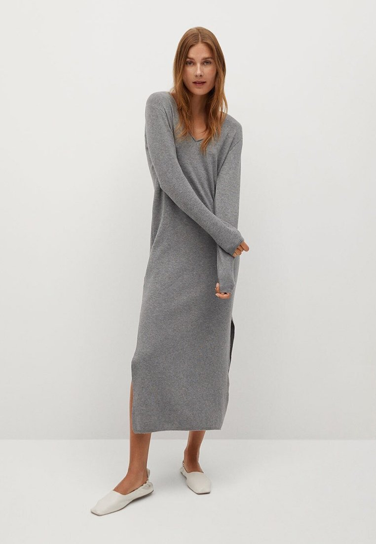 Mango - ROLLY - Strickkleid - grey