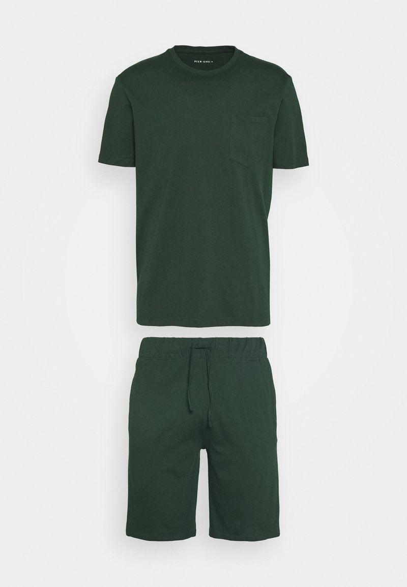 Pier One - SET - Pyjama set - dark green
