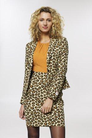 LADY JAG SET - Pouzdrová sukně - beige