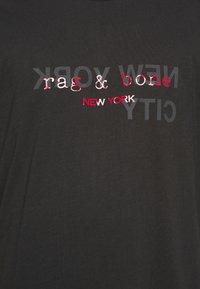 rag & bone - LOGO TEE - Triko spotiskem - black - 5
