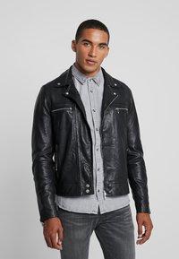 AllSaints - HALE BIKER - Veste en cuir - black - 0