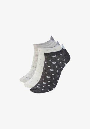3 PACK  - Ponožky - mottled dark grey