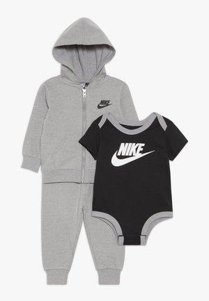 SOLID FUTURA PANT SET BABY - Mikina na zip - dark grey heather