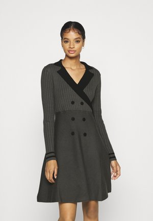 YOUNG LADIES KNITTED DRESS - Jumper dress - dark grey