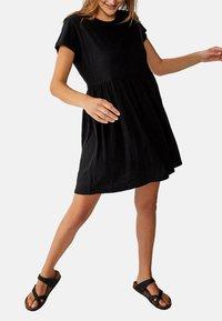 Cotton On Curve - TINA BABYDOLL  - Jersey dress - black - 0