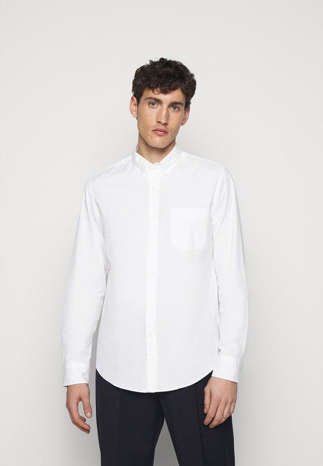 SLIM ORGANIC WASHED SOLID - Camicia - white