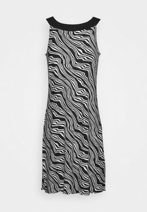DRESS AMERICAN NECK - Jersey dress - black