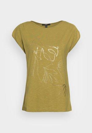 LINE - Print T-shirt - olive