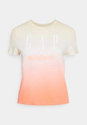 SHRUNKEN TEE - T-shirt med print - pink ombre