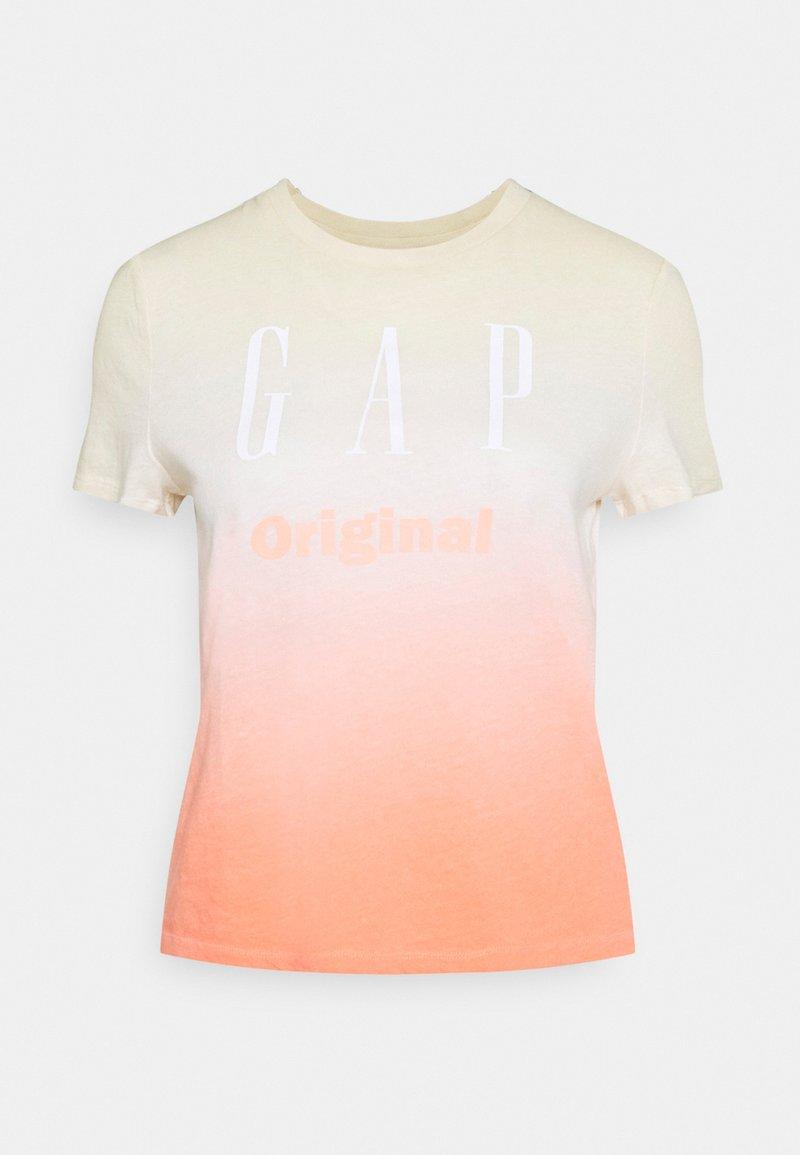GAP - SHRUNKEN TEE - T-shirt med print - pink ombre