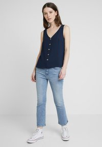 Vero Moda - VMSASHA BUTTON  - Blouse - navy blazer - 1