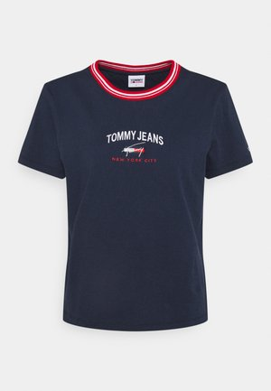 REGULAR TIMELESS SCRIPT TEE - T-shirt imprimé - twilight navy