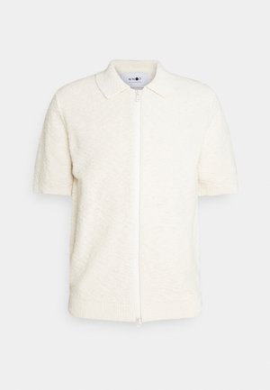 JOSHUA ZIP POLO  - Printtipaita - off white
