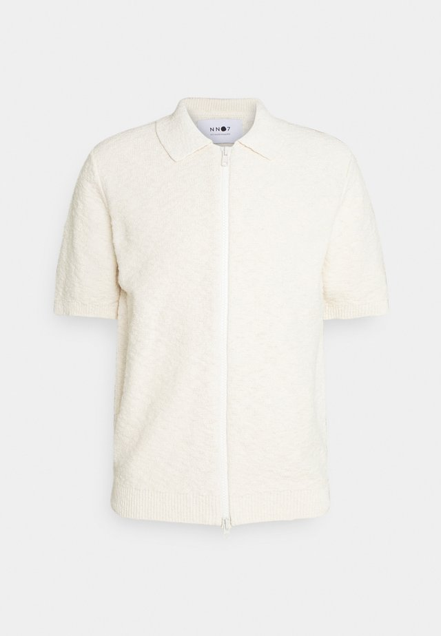 JOSHUA ZIP POLO  - T-shirt imprimé - off white
