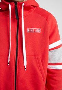 Nike Sportswear - HOODIE - Sudadera con cremallera - university red/white/black - 5