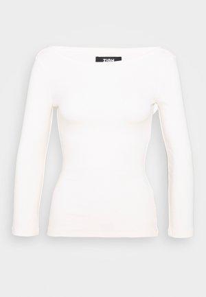 PREMIUM 3/4 Sleeve - Maglietta a manica lunga - off-white