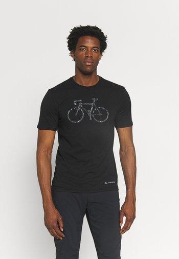 ME CYCLIST  - Print T-shirt - black