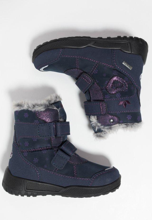 ANTONIA - Botas para la nieve - marine/lila