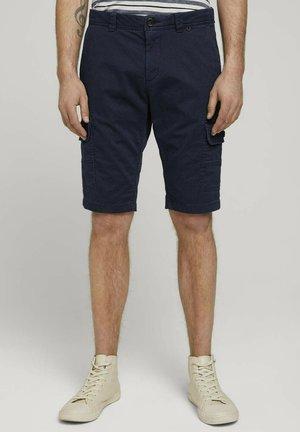 JOSH - Shorts - navy tonal structure design