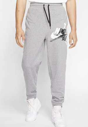 M J JUMPMAN CLSCS LTWT PANT - Tracksuit bottoms - carbon heather/white