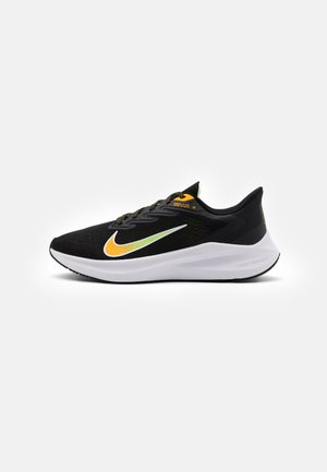 ZOOM WINFLO 7 - Neutral running shoes - black/university gold/volt glow/white