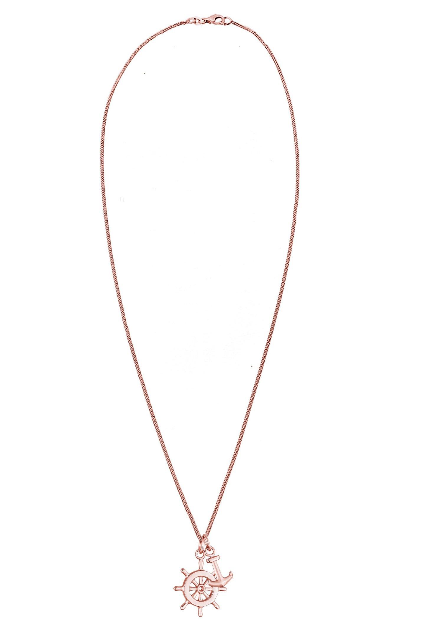Elli Steuerrad Anker - Halskette Rose Gold-coloured/roségoldfarben