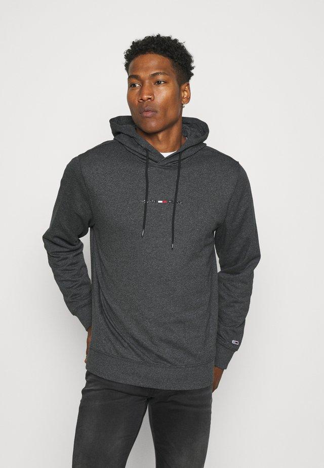 GEL STRAIGHT LOGO HOODIE - Sweatshirts - black