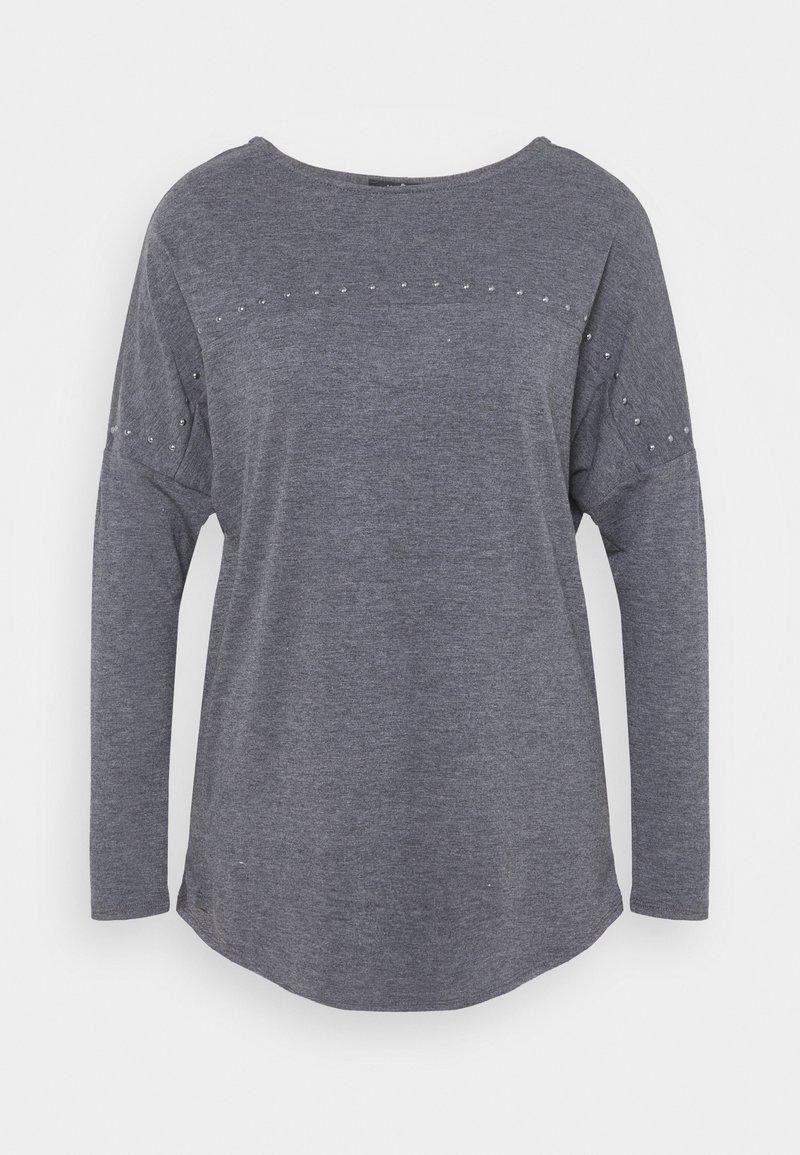 Wallis - STUDDED TUNIC - Long sleeved top - grey