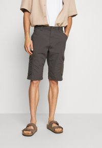 TOM TAILOR - LIGHTWEIGHT CARGO - Shorts - tarmac grey - 0