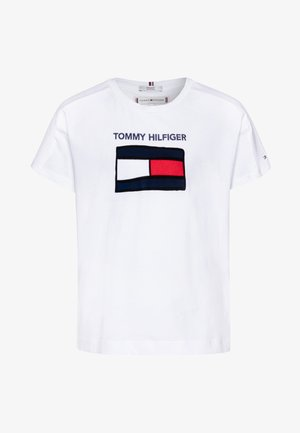 FUN GRAPHIC FLAG TEE  - T-shirt z nadrukiem - white