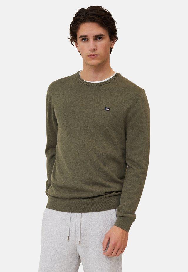 Strikkegenser - green melange