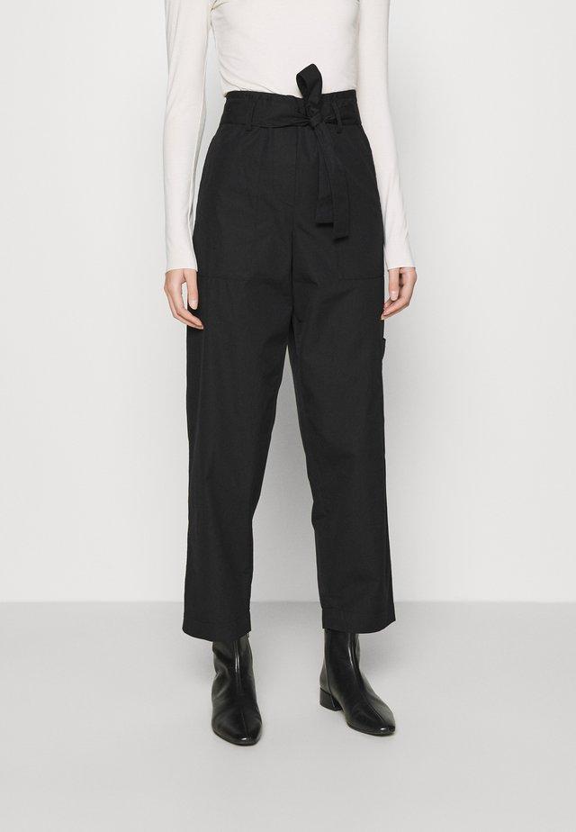 WIDE LEGGED TROUSER - Kalhoty - black dark