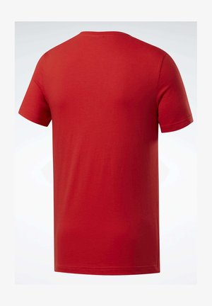 GRAPHIC SERIES REEBOK STACKED TEE - T-shirts print - red