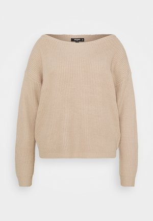 OPHELITA OFF SHOULDER - Jumper - taupe