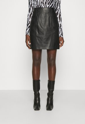 LUXURY FASHIONISTA SKIRT - Mini skirts  - black