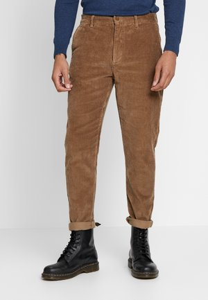 KLAUS WIDE PANT - Trousers - beige