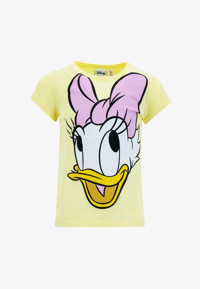 DeFacto - Print T-shirt - yellow